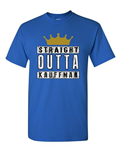Straight Outta Kauffman Crown Baseball Sports DT Adult T-Shirt Tee