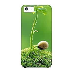 GunsRoses Perfect Tpu Case For Iphone 5c/ Anti-scratch Protector Case (sprout Leaves3)