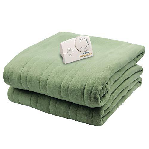 Biddeford 1000-903929-633 Comfort Knit Electric Heated Blanket, Twin, Sage