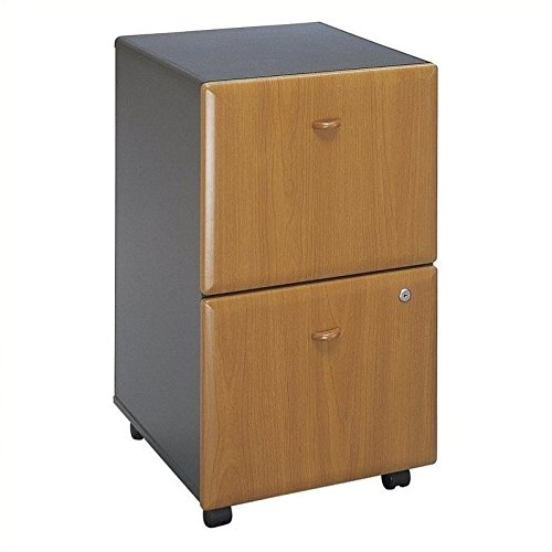 Bush Business Furniture WC57452P Series A 2 Drawer Mobile File Cabinet, Natural Cherry/Slate by Bush Business Furniture