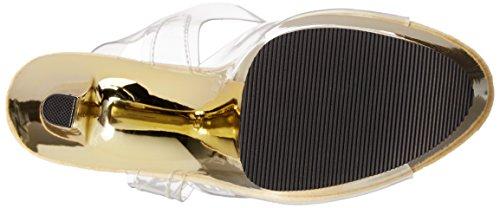 Chrome c Transparente gold Mujer clr Pleasersky308 hpch Sandalias O47TgOq