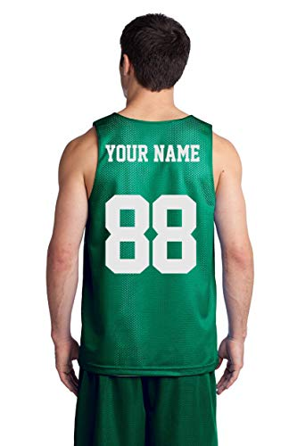 (Custom Basketball Tank Tops - Make Your OWN Jersey - Personalized Team Uniforms Kelly)