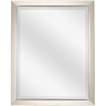Revel Madison 30 Large Decorative Bathroom Wall Mirror Brushed Nickel Finish