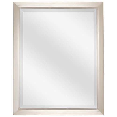 Revel Madison 30 Large Decorative Bathroom Wall Mirror Brushed Nickel Finish Product8