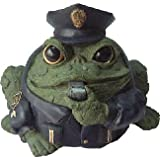Homestyles Toad Hollow #94087 Figurine Policeman in Cop Uniform with Cap Badge & Whistles Rescue Character Garden Small 5.5″h Statue Toad Figure Evergreen