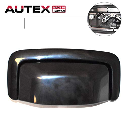 AUTEX Tailgate Handle Smooth Black Liftgate Handle Black Gloss Door Handle Rear Hatch Compatible with Chevrolet Tahoe,GMC Yukon,Chevy Suburban 1500 2500 2001 2002 2003 2004 2005 2006 80263 - Tailgate Rear Hatch Handle