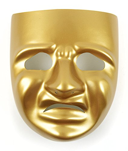 Mask-It Tragedy Mask with Instruction Sheet, 7.75-Inch, (Theater Mask)