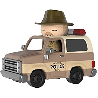 Funko Dorbz Ridez: Stranger Things - Hopper with Deputy Vehicle Collectible Vinyl Figure: Stranger Things: Toys & Games