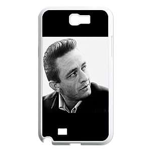 Johnny Cash Samsung Galaxy N2 7100 Cell Phone Case White mxl blab