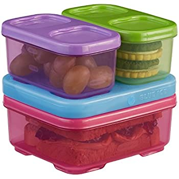 Rubbermaid LunchBlox Kids Lunch Box and Food Prep Containers, Tall, Purple/Green/Pink   Stackable & Microwave Safe