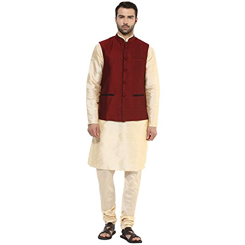 KISAH Men's Indian Silk Blend Kurta and Churidar with for sale  Delivered anywhere in USA