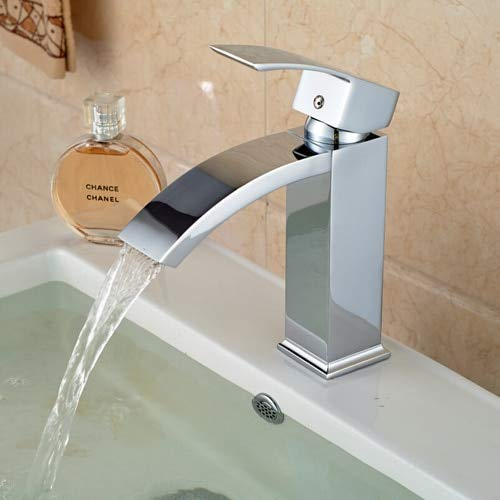 Faucet U-Enjoy Chandelier Polished Solid Chrome Brass Single Top Quality Handle Bathroom Sink Faucet Basin Tap Deck Mounted Mixer Faucet Accessory Free Shipping [Without Overflow]