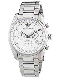 Men's Sportivo Chronograph Silver-Tone Steel and Dial