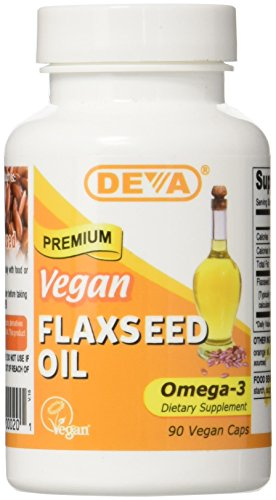 Deva Vegan Vitamins Flax Seed Oil 500 Mg Vcap, 90 Count