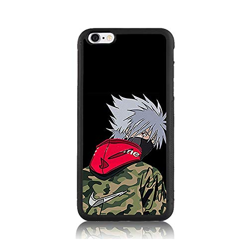 - Shock-Absorption Soft Bumper + Hard Back Cover Anti-Scratch Drop Protection Case for iPhone 6s Handsome Hoodies Kakashi Naruto