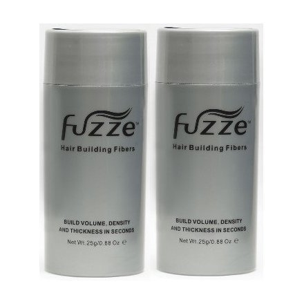 2 Pack Special Fuzze Second Generation Keratin Hair Building Fibers - Dark Brown - 25g/0.88 oz. - Adds Volume and Thickness to Balding or Thinning Hair