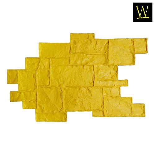 - Walttools Medievil Cobble Concrete Stamp Singles Decorative Random Cobblestone Pattern, Sturdy Polyurethane Texturing Mat, Realistic Detail (Rigid/Yellow)