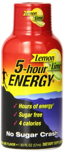5 Hour Energy Nutrional Drink, Lemon Lime, 24 Count,  1.93 Ounce (5 Hour Energy Lemon)