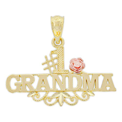1 Grandmother Charm - Charm America - Gold #1 Grandma Charm - 14 Karat Solid Gold