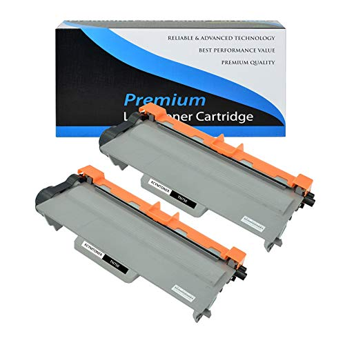 KCMYTONER Compatible for Brother Toner Cartridge Replacement for TN-750 TN750 use in HL-5450DN HL-5470DW HL-6180DW DCP-8110DN MFC-8510DN MFC-8810DW MFC-8910DW Series Printers - Black,2 Pack