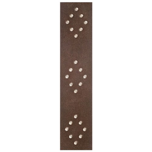 (Planet Waves Blasted Leather Guitar Strap, Brown with Brass Rivets)