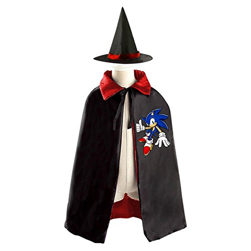 [Sonic Childrens' Halloween Costume Cloak Style Cape Wizard Hat Cosplay For Kids] (Sonic Halloween Costumes 1)