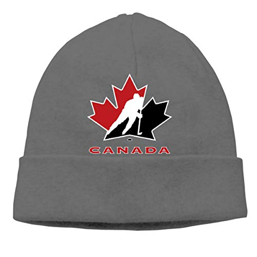 Canada National Ice Hockey Team Logo Unisex Winter Knitting Wool Warm Hat Daily Slouchy Hats Beanie Skull Cap