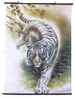 (White Tiger Wall Scroll R05)