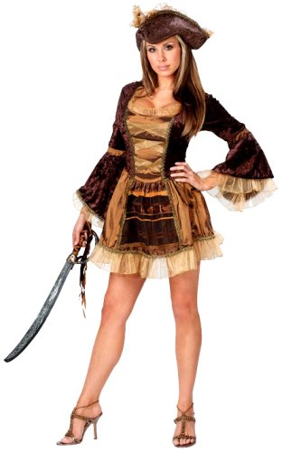 2a0ab4ed126 FunWorld Women's Sassy Victorian Pirate Costume