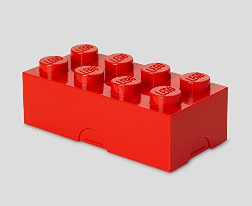 - LEGO Bright Red Lunch Box 8 Children's Toy Storage Brick