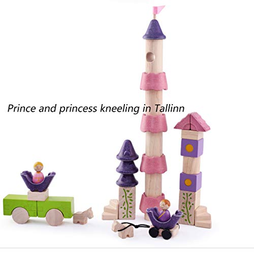 HXGL-Toys Wooden Toy Fairy Tale Castle Children's Gift Early Education Puzzle 3-6 Prince Princess (Color : Pink) by HXGL-Toys (Image #1)