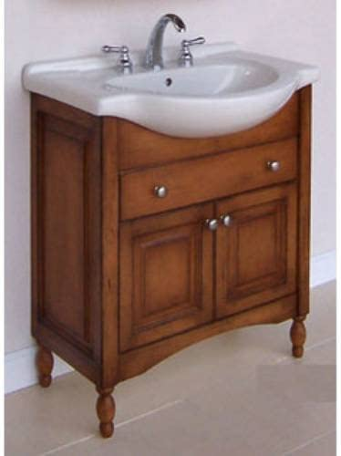 Amazon Com Windsor 30 Narrow Depth Bathroom Vanity Base Base Finish Cognac Kitchen Dining