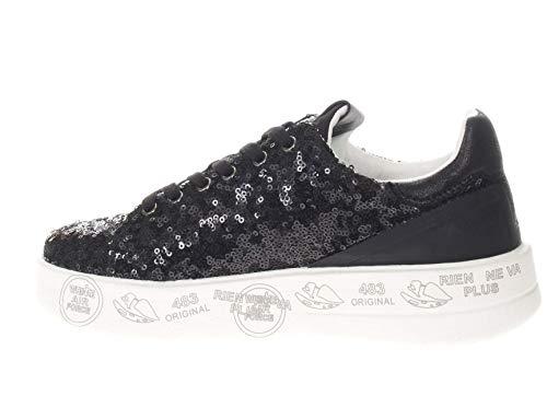 In Donna Sneaker Micropaillettes Premiata Belle Nero TEFwA4q