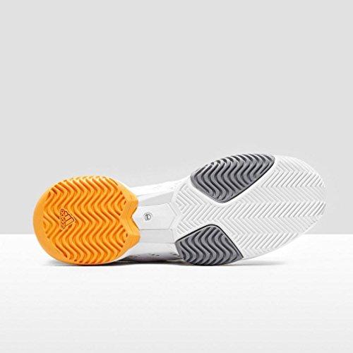 adidas Damen ASMC Barricade 2016 Tennisschuhe Blanco / Gris (Blanco / Blanco / Orofue)