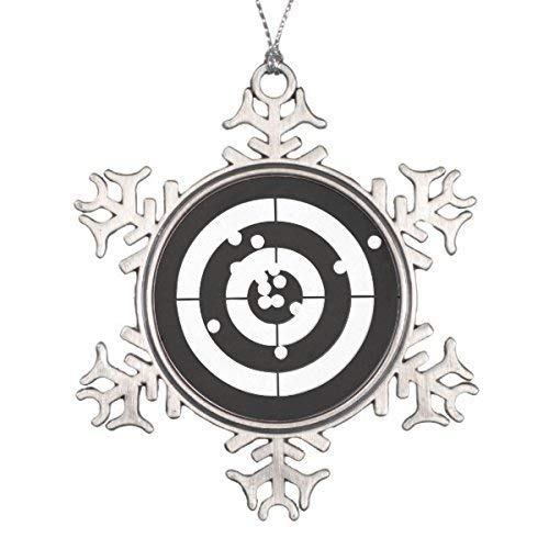 Liz66Ward Christmas Target Practice Snowflake Christmas Ornaments Pewter Novelty Funny Christmas Decorations for Tree for Home