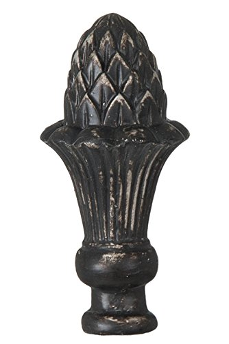 B&P Lamp Pineapple Style Large Lamp Finial, Bronze Color