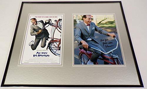 Pee Wee Herman Signed Framed 16x20 Photo Poster Set Pee Wee's Big Adventure