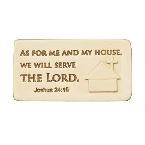 AngelStar 10251 As for Me and My House Scripture Tile, 2-1/4-Inch (As For Me And My House Scripture)