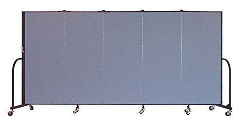 Freestanding 72 in. Tall Fabric Privacy Screen - 5 Panels (Lake Fabric) - Screenflex Freestanding Panels