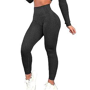 Women High Waisted Leggings Seamless Workout Yoga Pants Butt Lift Tummy Control