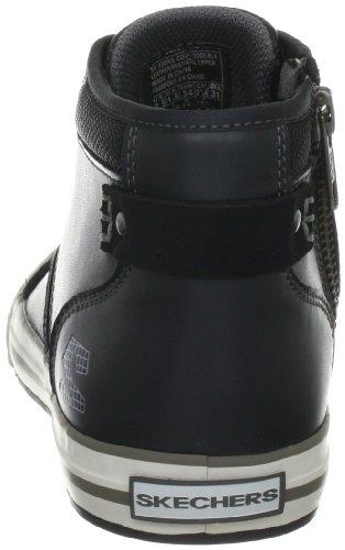 Skechers PlanfixEffective 93690L BLK - Zapatillas de cuero para niño Negro