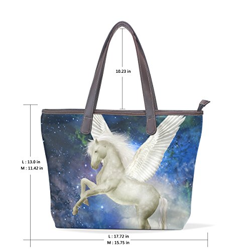33x45x13 Shoulder Hand Bag Unicorn Leather Multicolor Bag Tote Coosun Cm Pu Large Handle L 003 wqPFxXB