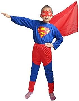 Disfraz Superman Superhéroe Superboy Disfraces Infantil Niño Niña ...