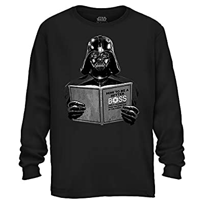 Star Wars Darth Vader Dark Side Empire Funny Humor Pun Adult Men's Graphic Long Sleeve Shirt