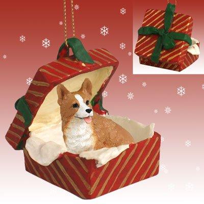Pembroke Welsh Corgi Christmas Tree - Conversation Concepts Welsh Corgi Pembroke Gift Box Red Ornament