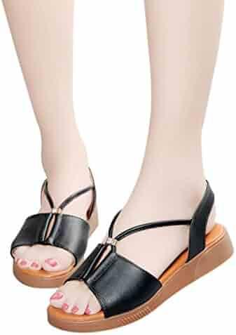 d7dfc92e0bc452 vermers Clearance Deals Women Beach Shoes Vintage Breathable Flat Anti  Skidding Open Toe Rome Sandals