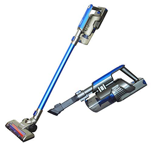 Kulecvni Cordless Vacuum Cleaner Handheld 2 in 1 Stick Vacuum with Rechargeable Lithium-ion Battery for Home, Car, Pet Hair, Hardwood Floors (Best Diy Wood Floor Cleaner)