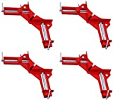 HAWK - 4-PAK 90 Degree Angle Corner Clamp 3 Capacity Picture Frame Jig TZ7100 by Clamps
