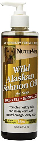 Nutri-Vet Wild Alaskan Salmon Oil for Dogs, 16 Ounce