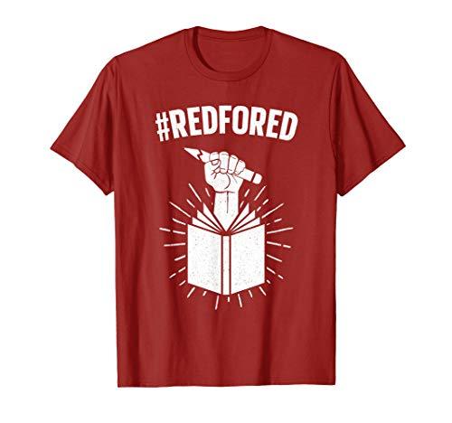Red For Ed T-Shirt Teachers Strike Educator Walkout Shirt